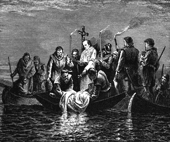 Picture of Hernando de Soto's Burial at sea