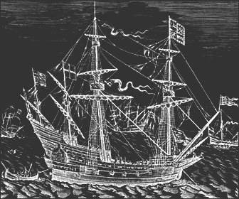 Picture of an Elizabethan War Ship